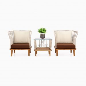 Anjani Terrace Set - Outdoor Rattan Garden Patio Furniture