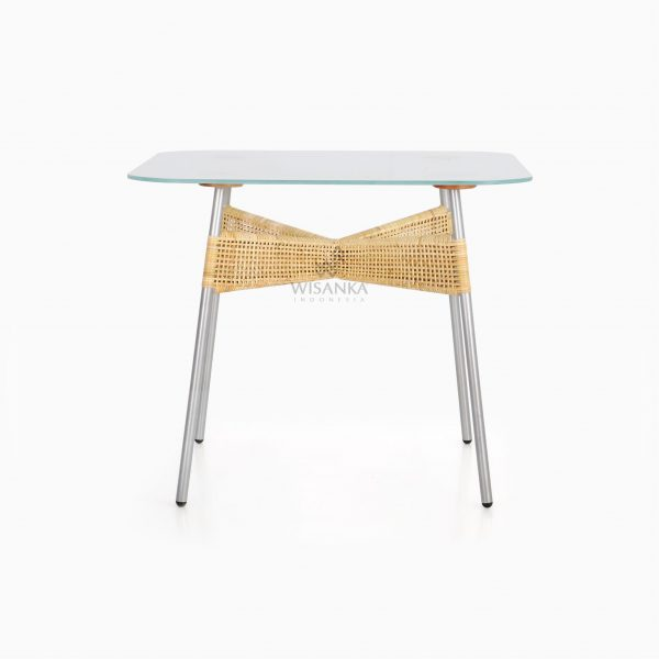 Kaira Dining Table -Natural Rattan Wicker Furniture front
