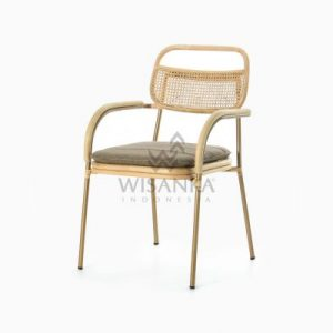 Akina Dining Arm Chair - Natural Rattan Wicker Furniture