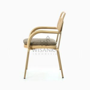 Akina Dining Arm Chair - Natural Rattan Wicker Furniture side