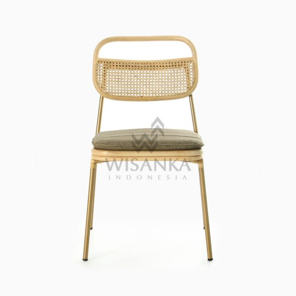 Akina Side Chair - Natural Rattan Wicker Furniture front