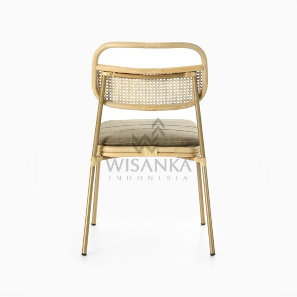 Akina Side Chair - Natural Rattan Wicker Furniture rear