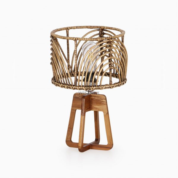 Avani Table Lamp with Pitrit Shade - Natural Rattan Table Lamp off