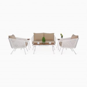 Clarendon Living Set - Outdoor Rattan Garden Patio Furniture