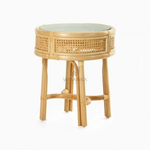 Lerida Side Table - Natural Rattan Wicker Furniture