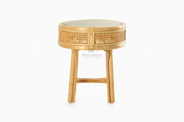 Lerida Side Table - Natural Rattan Wicker Furniture front