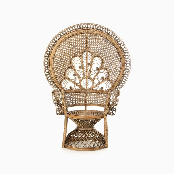 Saleema Peacock chair - Natural Rattan Wicker Furniture front