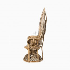 Saleema Peacock chair - Natural Rattan Wicker Furniture side